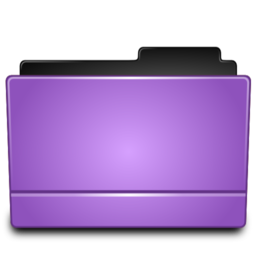 256x256px size png icon of Folder purple