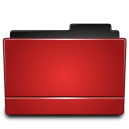 256x256px size png icon of Folder red