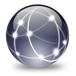 256x256px size png icon of Network