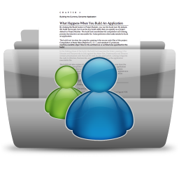 256x256px size png icon of MSN Conversations