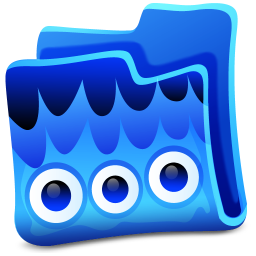 256x256px size png icon of blue folder