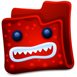 256x256px size png icon of red folder