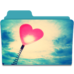 256x256px size png icon of Folder Heart