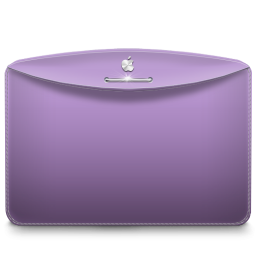 256x256px size png icon of Folder Color Lilac Purple