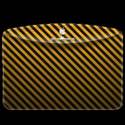 256x256px size png icon of Folder Pattern Stripes Warning