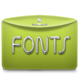 256x256px size png icon of Folder Text Fonts