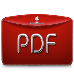 256x256px size png icon of Folder Text PDF