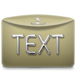 256x256px size png icon of Folder Text