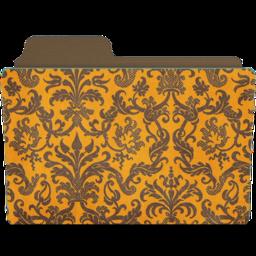 256x256px size png icon of folder damask tangeriny