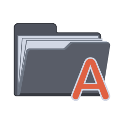 256x256px size png icon of Alphabet Folder