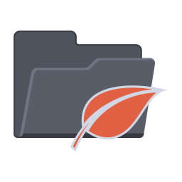 256x256px size png icon of Leaf Folder