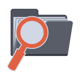 256x256px size png icon of Search Folder