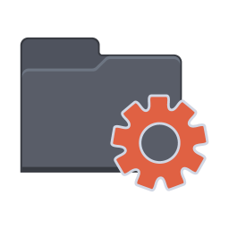256x256px size png icon of Setting Folder