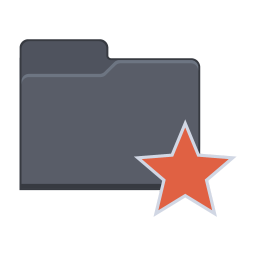 256x256px size png icon of Star Folder
