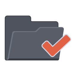 256x256px size png icon of Tick Folder