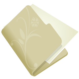 256x256px size png icon of folder flower beige
