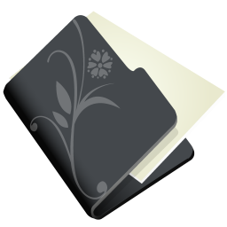 256x256px size png icon of folder flower black
