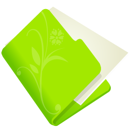 256x256px size png icon of folder flower green