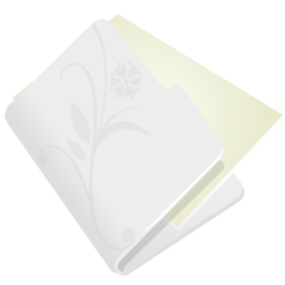 256x256px size png icon of folder flower light grey