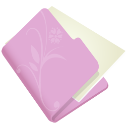 256x256px size png icon of folder flower lila