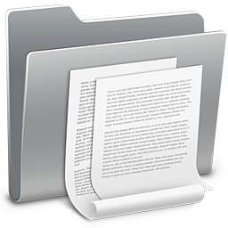 256x256px size png icon of 3D Documents