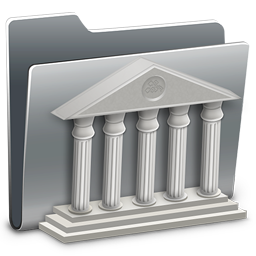 256x256px size png icon of 3D Library