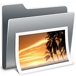 256x256px size png icon of 3D Photos