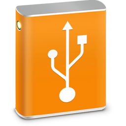 256x256px size png icon of External HD USB