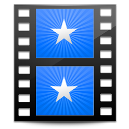 256x256px size png icon of Sidebar Movies Blue