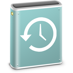 256x256px size png icon of Time Machine Disk