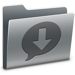 256x256px size png icon of iChat Downloads