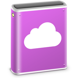 256x256px size png icon of iDisk Pink MobileMe