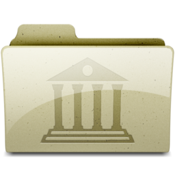 256x256px size png icon of Library Tan