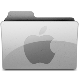 256x256px size png icon of applegeneric Grey