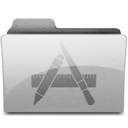 256x256px size png icon of apps Grey
