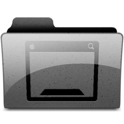 256x256px size png icon of desktop Charcoal