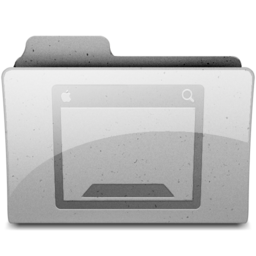 256x256px size png icon of desktop Grey
