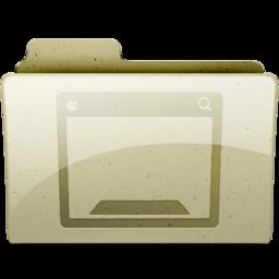 256x256px size png icon of desktop Tan