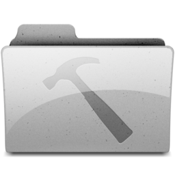 256x256px size png icon of developer Grey