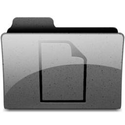 256x256px size png icon of documents Charcoal