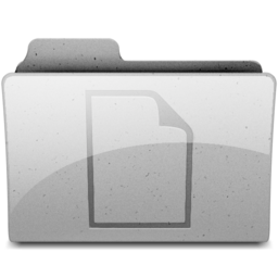 256x256px size png icon of documents Grey