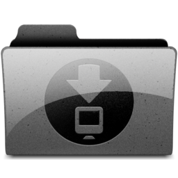 256x256px size png icon of downloads Charcoal