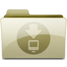 256x256px size png icon of downloads Tan