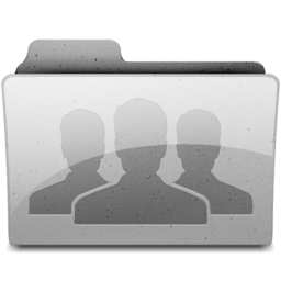 256x256px size png icon of group Grey