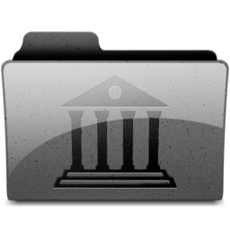 256x256px size png icon of library Charcoal