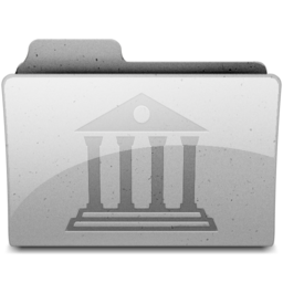 256x256px size png icon of library Grey