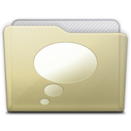 256x256px size png icon of beige folder chats