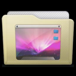 256x256px size png icon of beige folder desktop