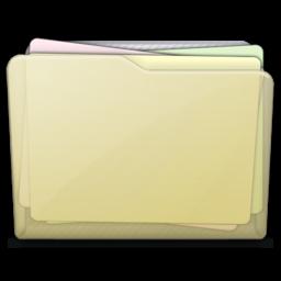 256x256px size png icon of beige folder docs alt