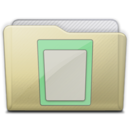 256x256px size png icon of beige folder docs